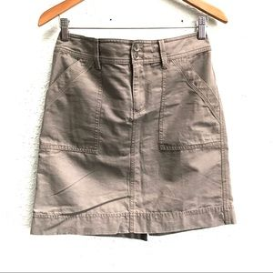 LOFT Dark Khaki Utility Skirt With Stretch Size 2
